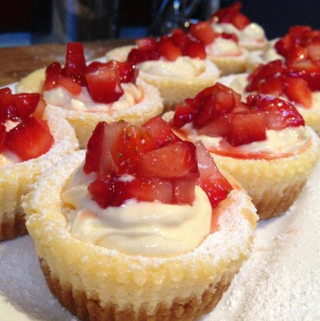 Miniature Baked Cheesecakes