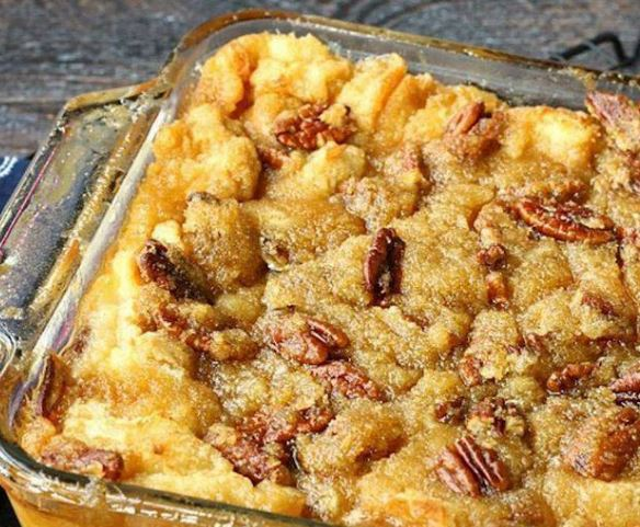 Pecan Pie Bread Pudding Without Crust