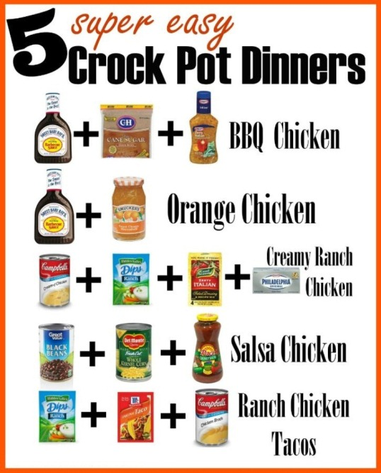 5 Super Easy Crock Pot Dinners