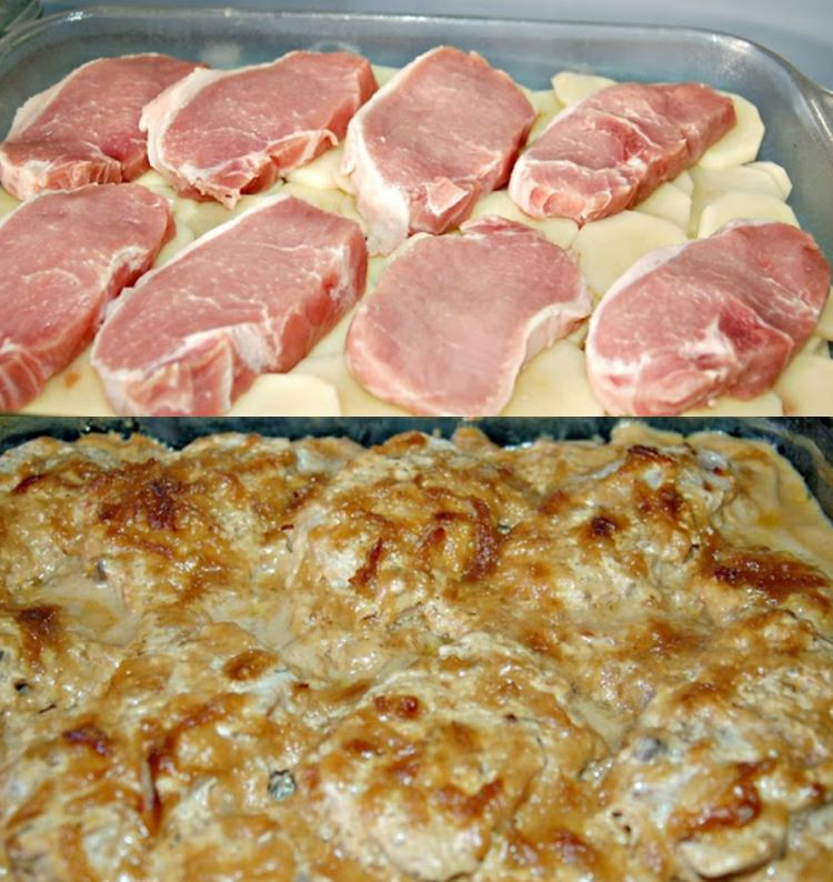 Creamy Pork Chops and Potatoes