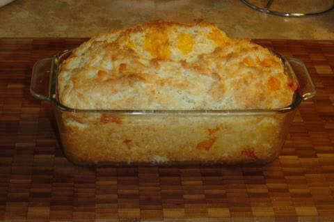 Red Lobster's Cheese Biscuit recipe done in a loaf pan