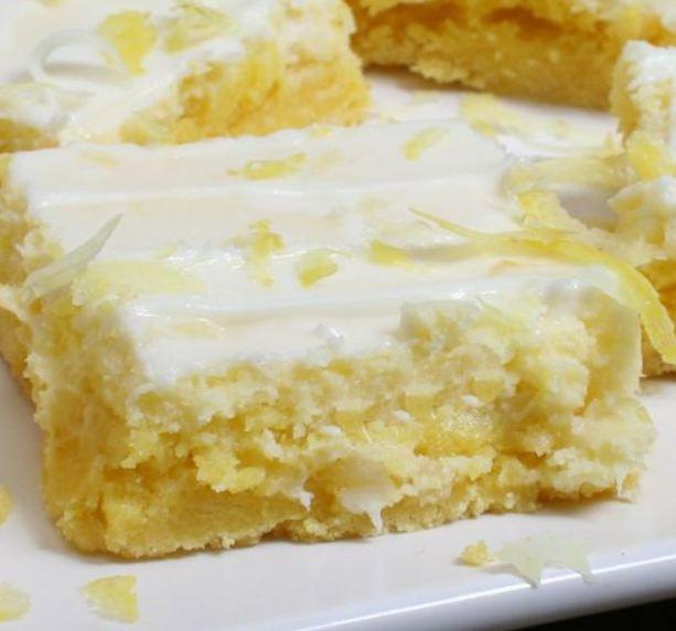 Cream Cheese Lemon Bars Recipe