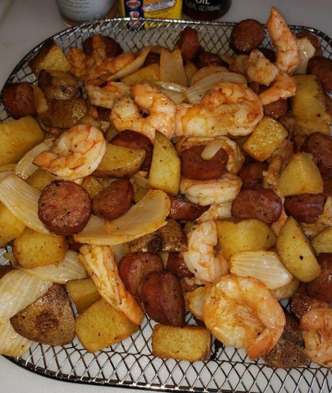 Spicy Cajun Shrimp Smoked Sausage Potatoes