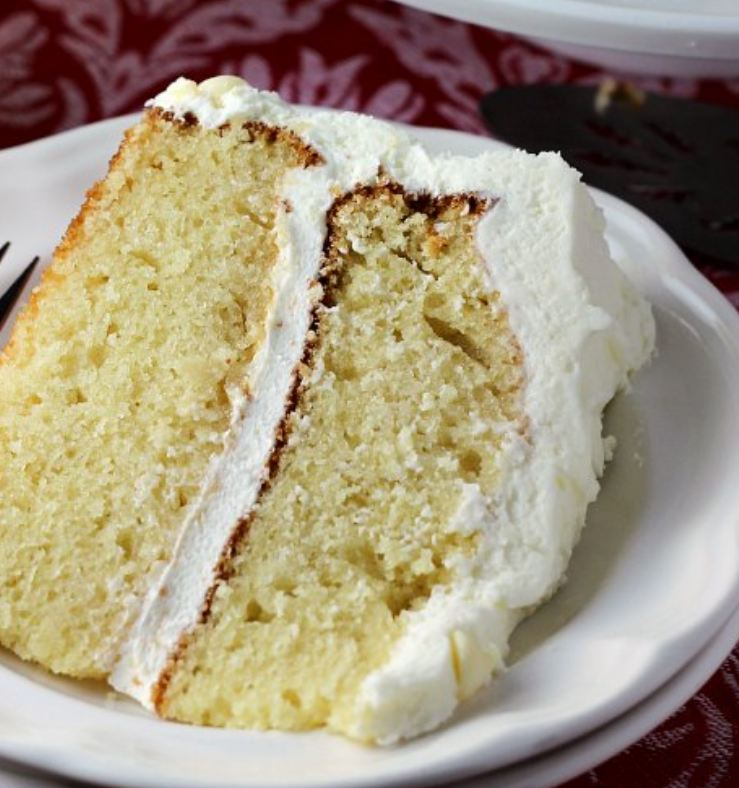 White Chocolate Layer Cake with White Chocolate Frosting