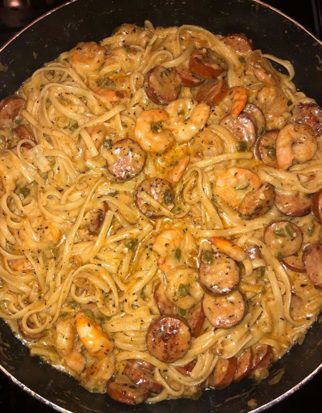 Cajun Shrimp Pasta with Sausage