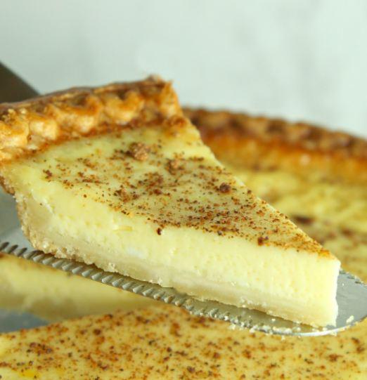 Old Fashioned Cream Custard Pie