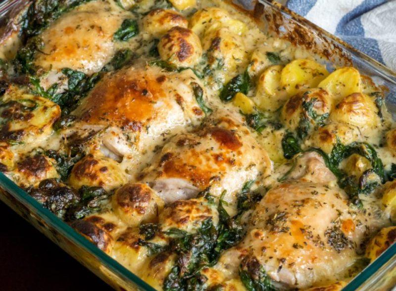 Baked Garlic Parmesan Chicken And Potatoes