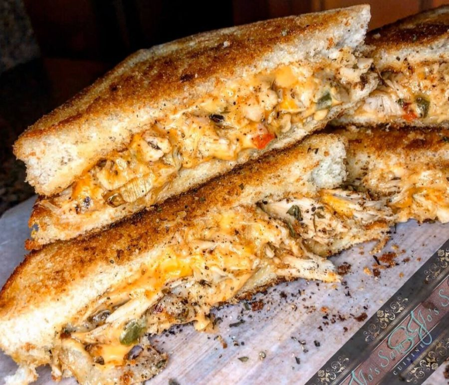 Maryland Lump Crab Meat Grilled Cheese Melt