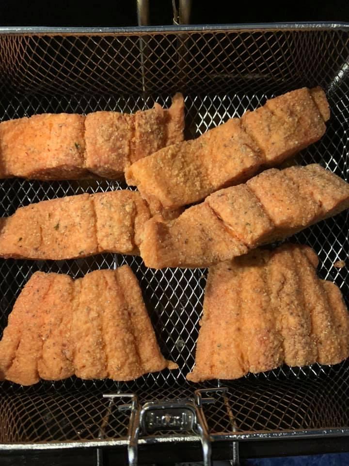 Deep Fried Salmon Filet
