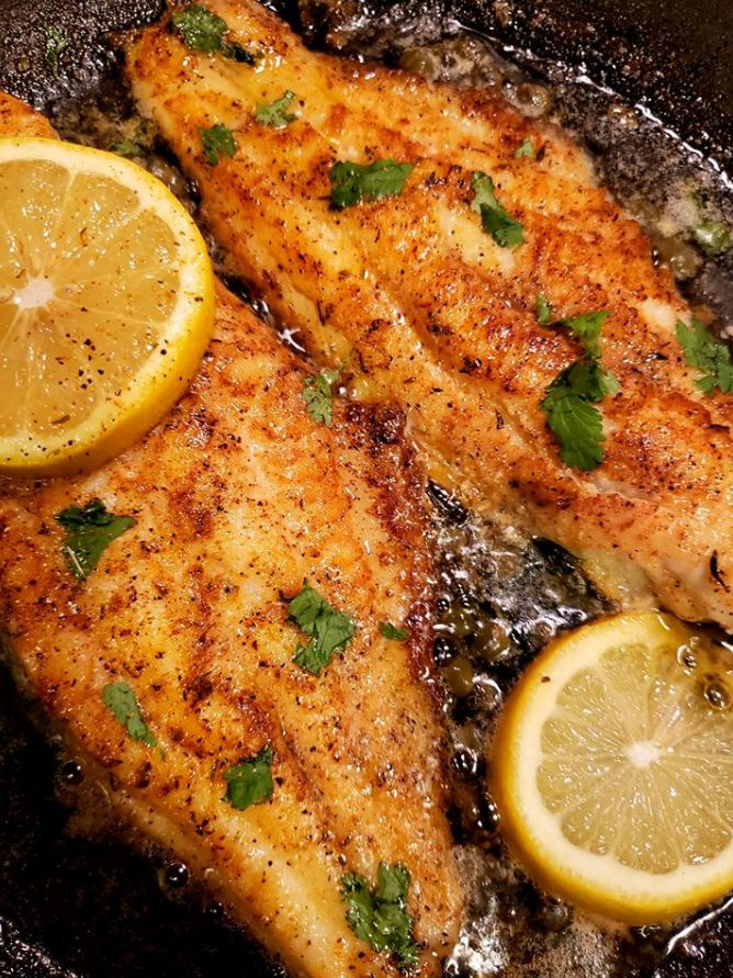 Pan seared fish filets!
