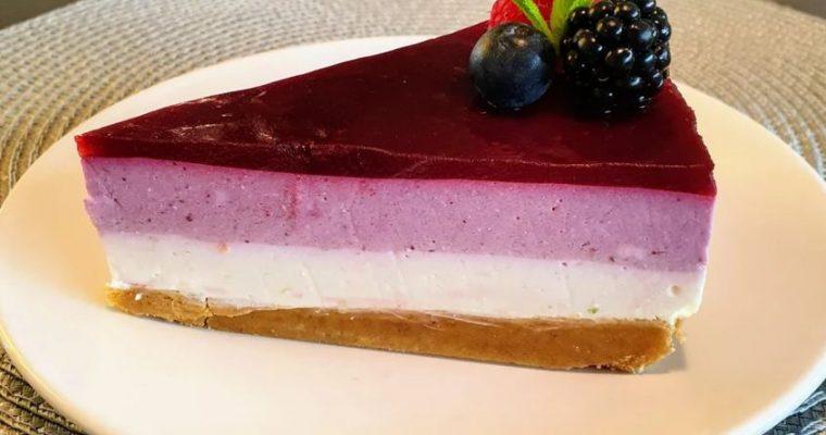 Homemade Wild berries cheesecake