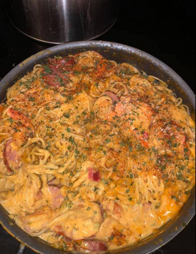 Jambalaya Alfredo pasta