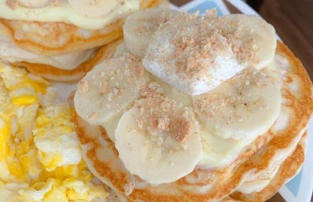 Banana pudding pancakes