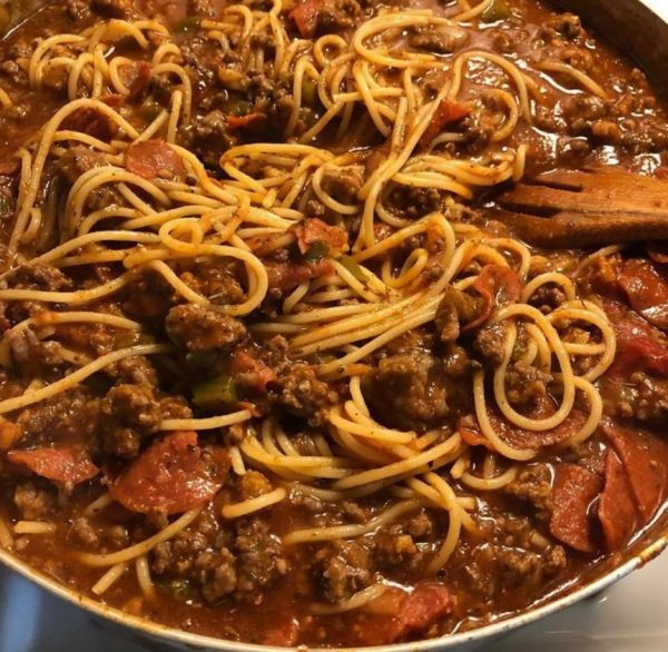 Spaghetti Sauce with Ground Beef & Sausage