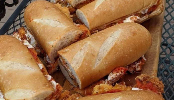 Chicken parm hoagies!