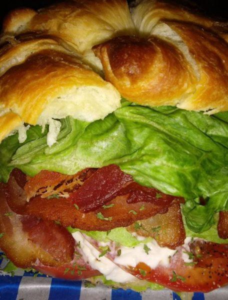 BLT CROISSANT SANDWICH
