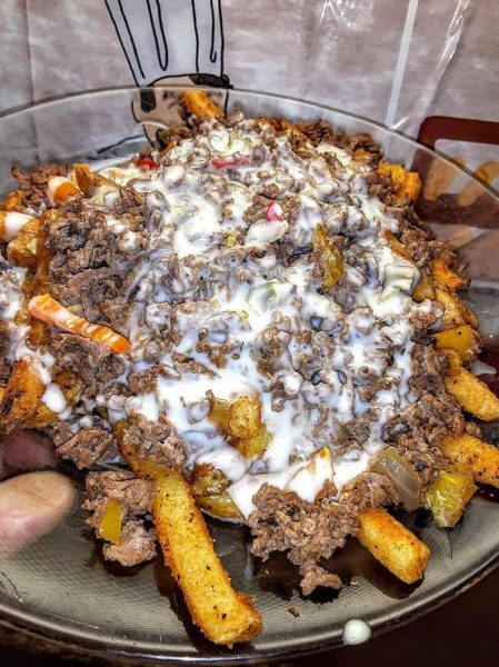 Philly steak cheese fries